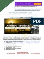 Static GK Study Material Andhra Pradesh