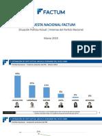 Encuesta Nacional Factum - Estimación de Voto PN 03_2019