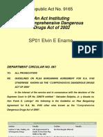Plea Bargaining Agreement on Ra9165