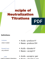 Principle of Neutralization Titrations