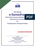 ESamadhan User Manual