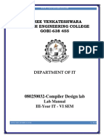 080250032-Compiler Design Lab Manual Final