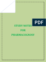 Study Notes for Pharmacognosy (B.Pharm & D.Pharm)