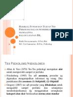 Hakikat, Fungsi Dan Tujuan Tes Psikologi Dalam BK