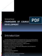 Framework of Course Development