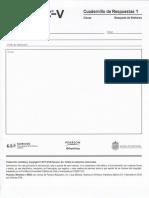 Cuadernillo de Respuestas 1 WISC V