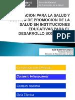 EDUCACION PARA LA SALUD Y GESTION DE LA PS  EN II.EE.ppt