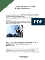 Indicadores Para El Proceso Logistico