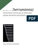 Llave (Herramienta) - Wikipedia, La Enciclopedia Libre