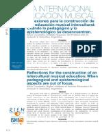 Reflexiones Para La Construccion de Una Ed. Musical Intercultural (Caravetta y Vasquez)