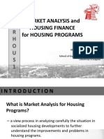 Market Analysis and Housing Finance Housing