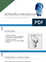 Depressão x Melancolia
