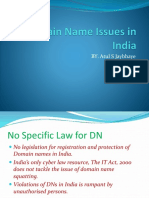 Domain Name Issues in India