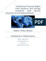 The Role of Intellectual Property Rights in International Business and Foreign Direct Investment of the Developing Nations-4.docx