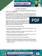 Evidencia 5 Encuesta Valoracion y Propuestas de Mejora Para El Trabajo en Equipo de Una Organizacion