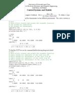 CS Matlab Exercises