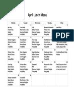april lunch menu for website