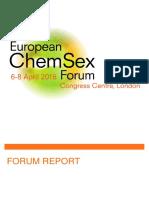 European ChemSex Forum Report