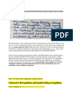Character and Handwriting RecognitionupdatedApril2019