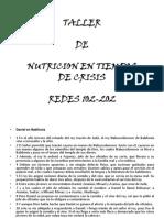 Taller de Nutricion Red 102-202