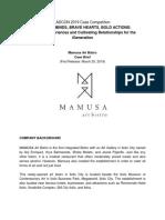 Mamusa Case Analysis