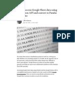 How to Access Google Sheet Data Using the Python API and Convert to Pandas Dataframe