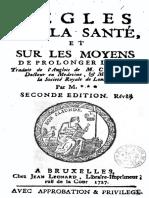 Cheyne George - Regles sur la sante et sur les moyens de prolonger la vie.pdf