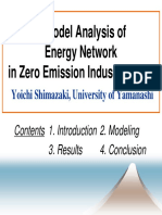 A Model Analysis of Energy Network in Zero Emission Industrial Park