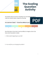 The Scaling Question Activity