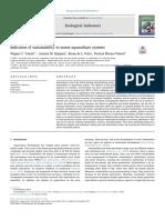 indicadores de sostenibilidad de la acuicultura.