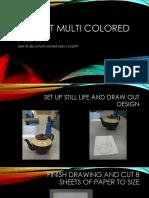 multi colored printing process