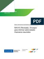 NIA 810 (Revisada)
