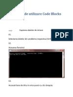 Artificii de Utilizare Code Blocks