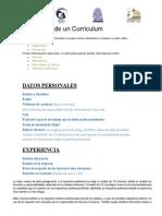 1. Elementos de Un Currículum Vitae y Entrevista Laboral