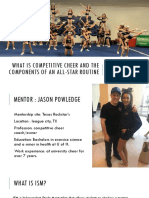 what is competitive cheer and the   components of