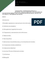 Tema 25 Recogida, Organizacion y Representacion de La Informacion