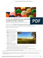 El origen de 100 pequeños elementos del español