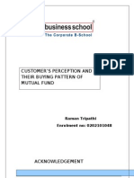 18645919 Customers Buying Pattern of Mutual Funds