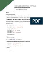 Ejemplo Variables 1