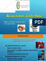 Reacciones acido-base IV°