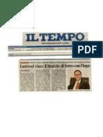 Eastwood Vince Il Braccio Di Ferro Con l'INPS in Tribunale _IL Tempo Di Lazio_Rieti Il 27 Ottobre 2010