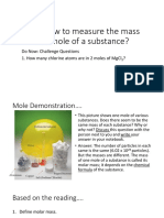 Molar Mass and Mass to Moles Conversions