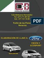 Cerrajeria Balbuena Ford Fiesta y Ecosport Rdmf