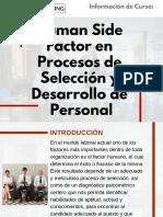 Curso Human Side Factor en Procesos de Selección y Desarrollo de Personal