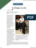 El Universal - Nación - Un Taxista Trilingüe y Con Dos Maestrías