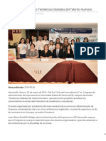 26-03-2019 - Invita UES Al Congreso Tendencias Globales Del Talento Humano - Termometroenlinea.com.Mx
