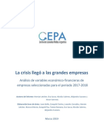 La Crisis Llegó a Las Grandes Empresas - Centro de Economía Política Argentina