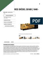 Generadores Diésel 3516B 1640 - 2250 EkW CAT