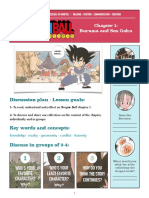 Dragon Ball - Bilingual discussion and activities lesson plan chapter 1 +