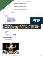 Posições Do Pôker • Artigos • Academia Das Apostas Brasil